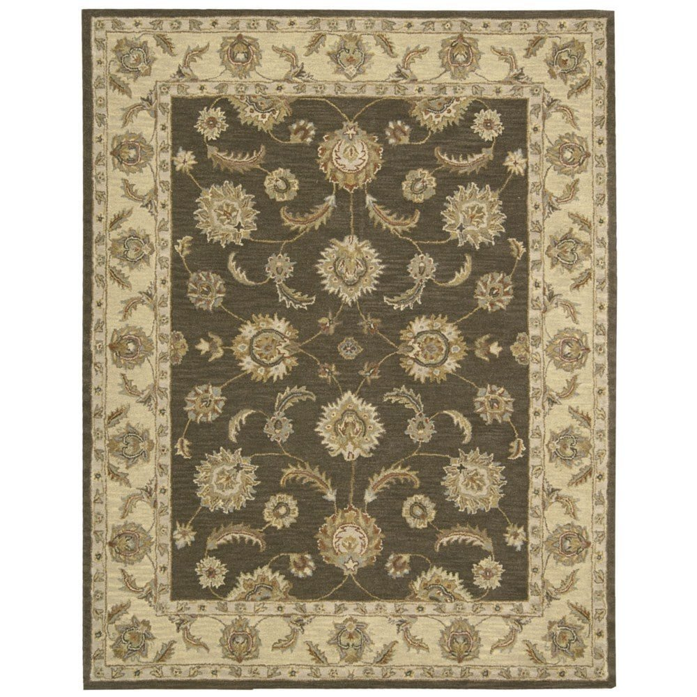 Nourison India House (IH89) Mushroom Rectangle Area Rug, 8-Feet by 10-Feet 6-Inches (8' x 10'6'')