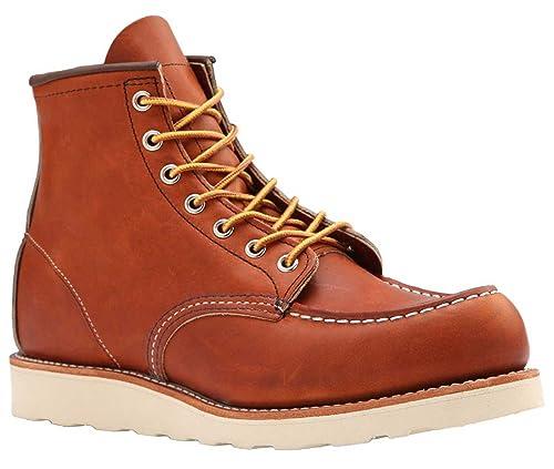 Red Wing Moc-dedo del pie Clásico botas + gratis bote de Visón Aceite + Pulido Gratis Paño: Amazon.es: Zapatos y complementos