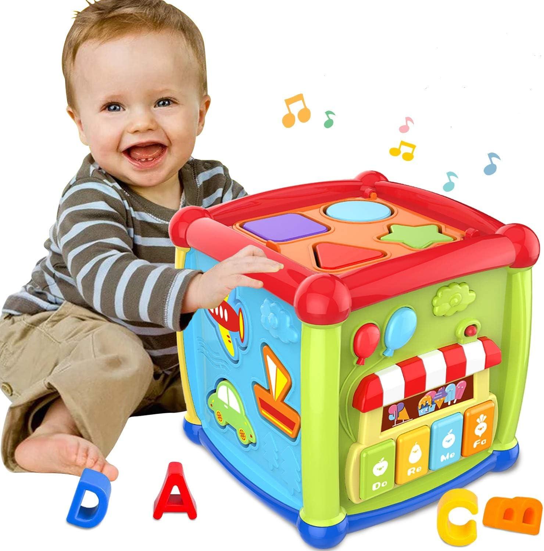 Aprendizaje Temprano de Educativa y Juguetes para Bebés 12-18 Meses Juguetes de Cubo de Actividad para Bebé de 1 Año Juguetes de Regalo de 6 12 Meses para Niños y Niñas de 1 2 3 Años y Niños Pequeños