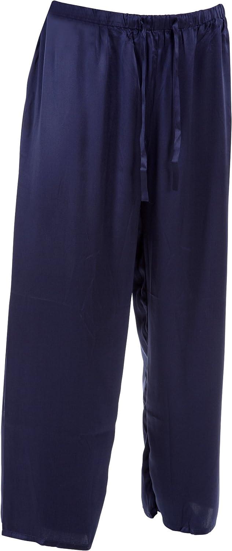 SUPERIOR NATURALS Herren Pyjamahose Seide Blau