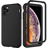 "Kit Me Out World Rugged Series Case Designed for iPhone 11 Pro Max Case 6.5"", Drop Proof, Drop Protection Full Body Rugged Heavy Duty Case, 3-Layer Protective Durable Shockproof Case Cover (Black)"