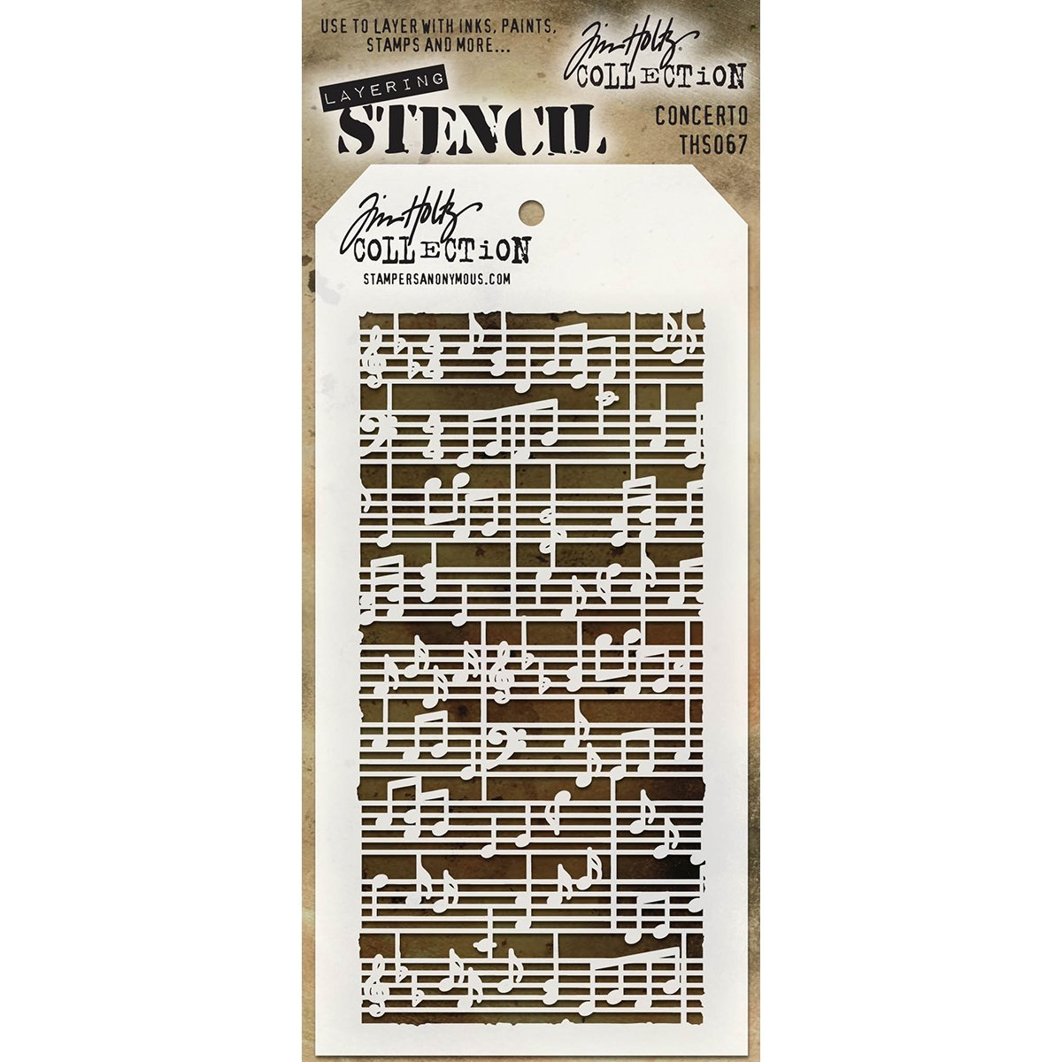 Stampers Anonymous - Tim Holtz - Concerto Stencil AGTHS067