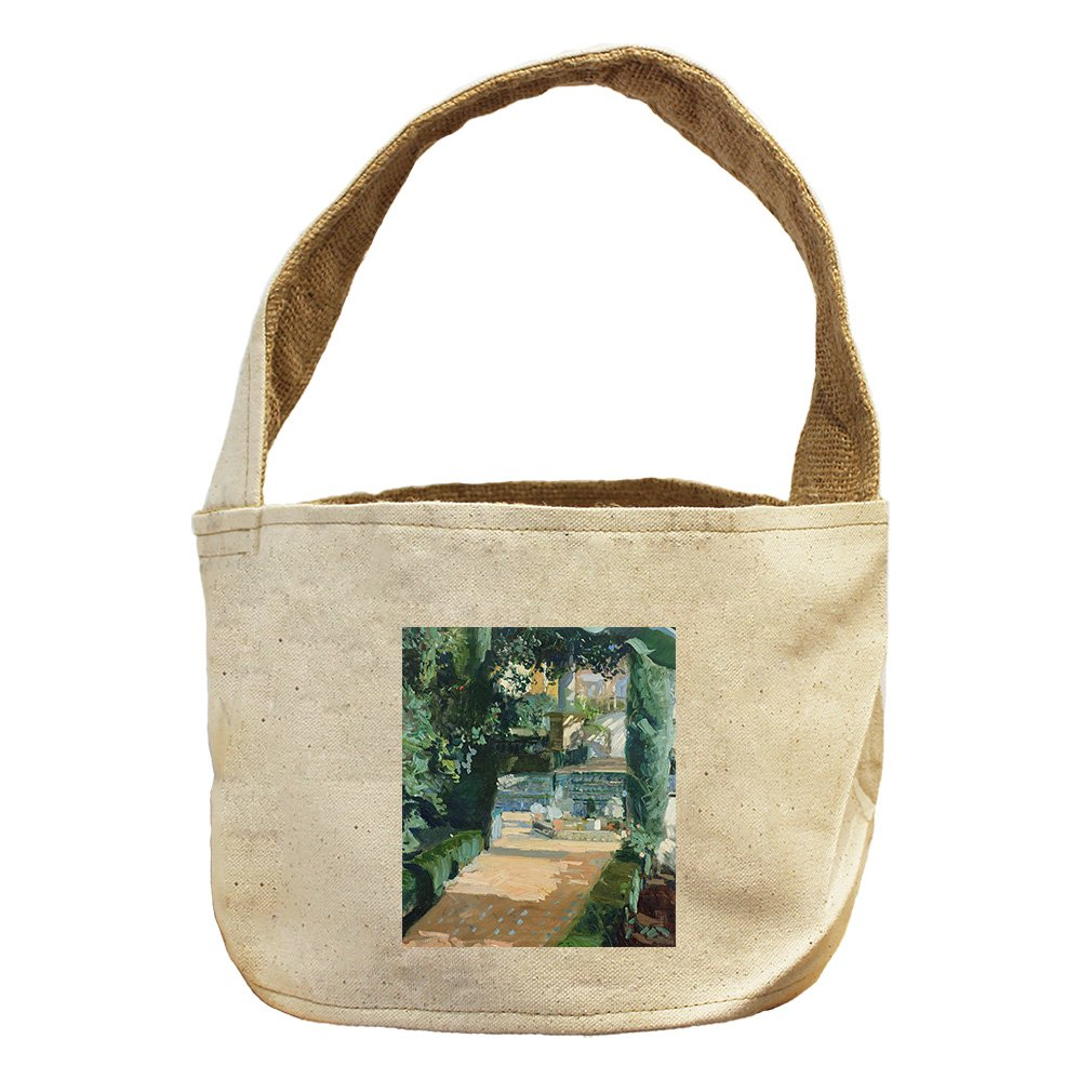 Style in Print Court Of The Dances, Seville (Sorolla) Canvas and Burlap Storage Basket