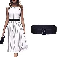 Women Wide Elastic Buckle Belt - 1.97'' Wide Waist Belt Cinch Belt Trimmer Stretch Waistband for Women and Girls Dress