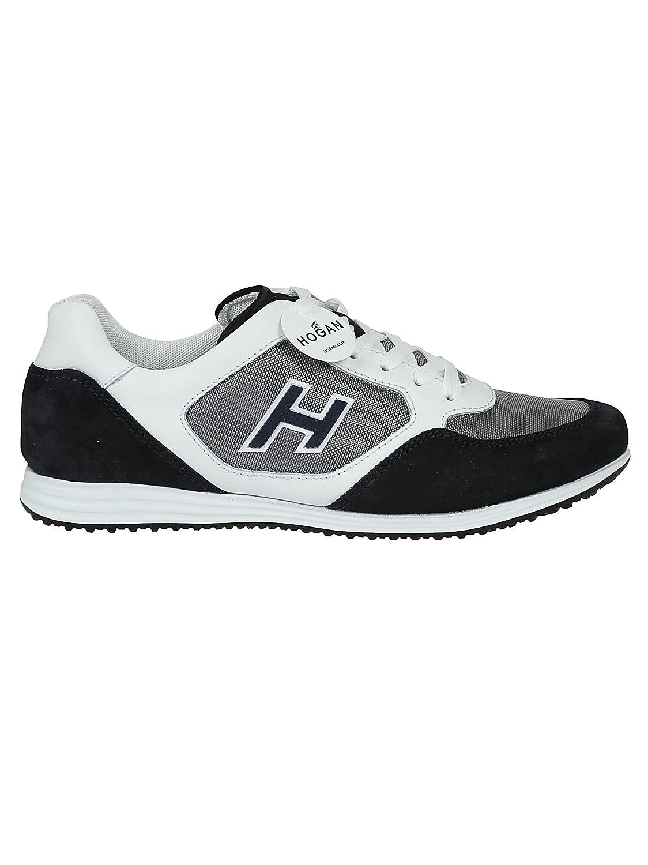 Hogan Hombre HXM2050Y810I9L0Q3D Blanco Cuero Zapatillas 40.5 IT - Tamaño de la Marca 6.5