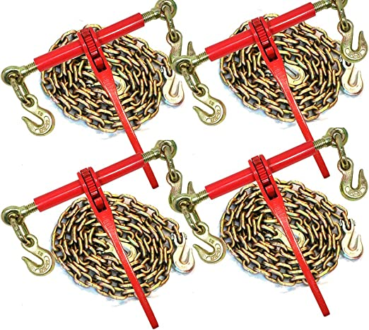 5//16 10 Foot Grade 70 Binder Chain Transport Hauling Load Package for Trailer Load
