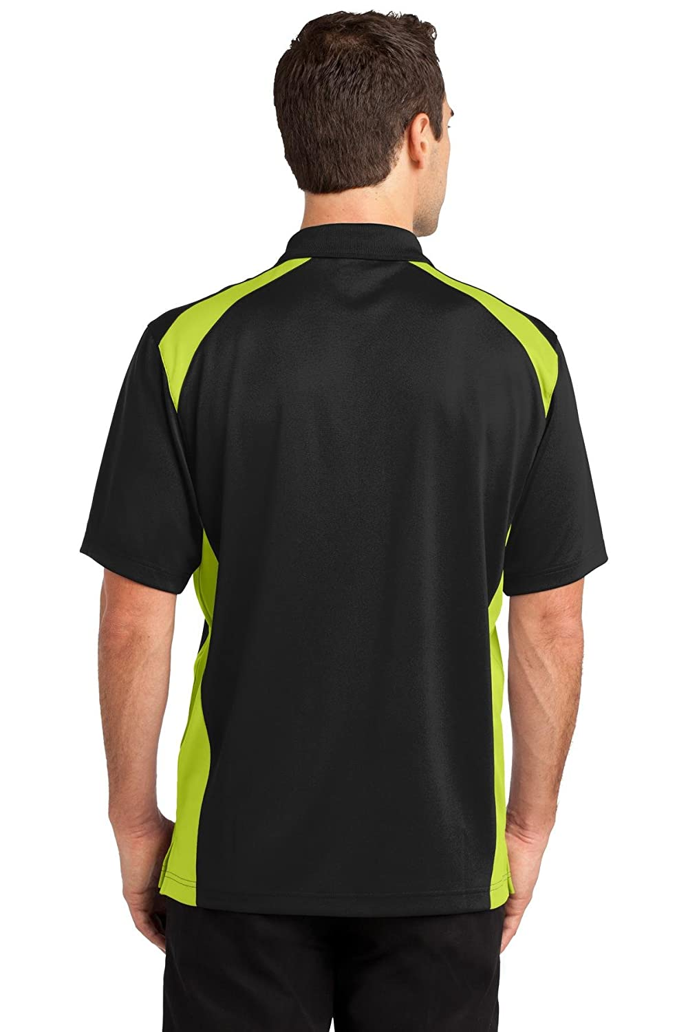 CornerStone Mens Select Snag-Proof Two Way Colorblock Pocket Polo