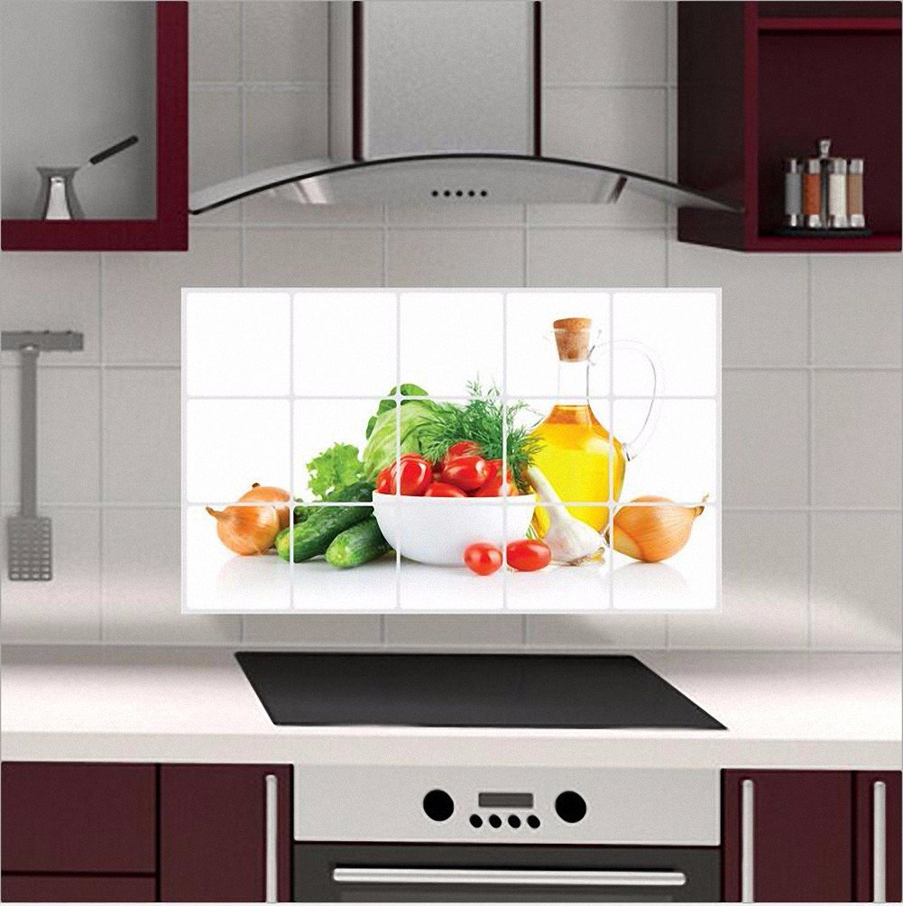 AOHANG Waterproof Anti-oil Stain lecythus Kitchen decoration Wall ...