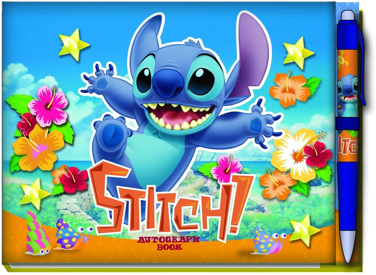 Stitch Deluxe Autograph Book with Pen
