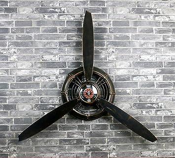 Loft Style Industriel Decoration Murale Ornement Avion Helice Mur De Fer Decoration Mur Ornements Decoration Murale Pendentif Couleur Noir Style