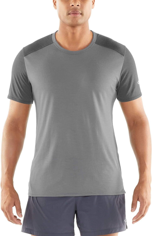 Icebreaker Amplify SS Crewe Top Men black 2019 Running T-shirt