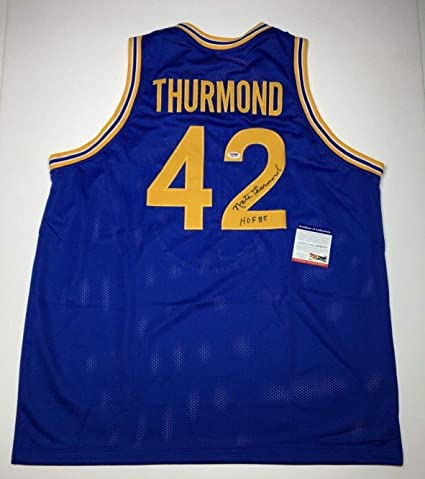 eb1777862a2 Nate Thurmond Autographed Signed Memorabilia San Francisco Golden State  Warriors Jersey Hof 85 PSA DNA 778 at Amazon s Sports Collectibles Store