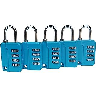 Amazon.com: Candado con combinación de candado, 5 cerraduras ...