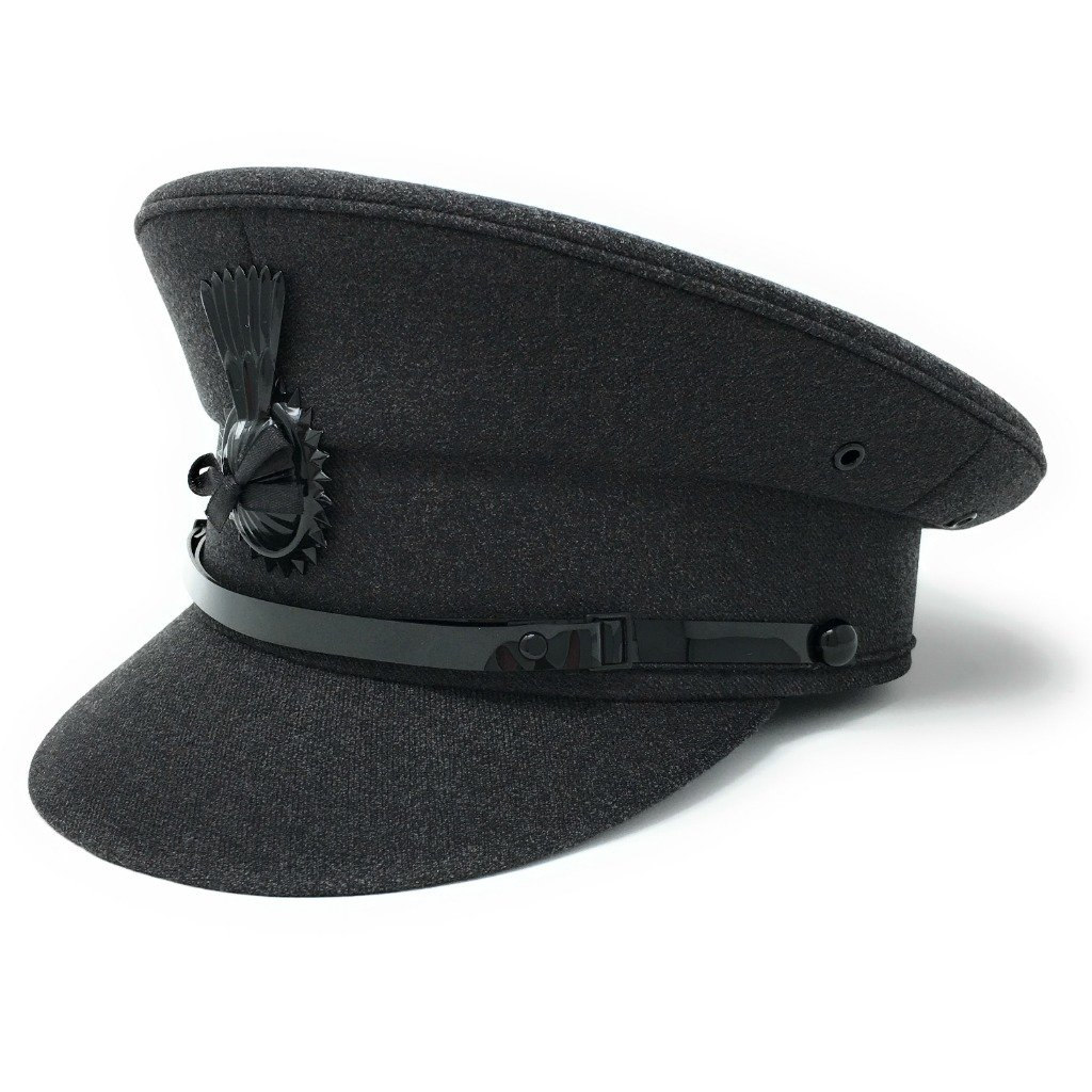 Cotswold Country Hats Mens Formal Chauffeur Hat Professional Quality Drivers Cap. Black Or Grey
