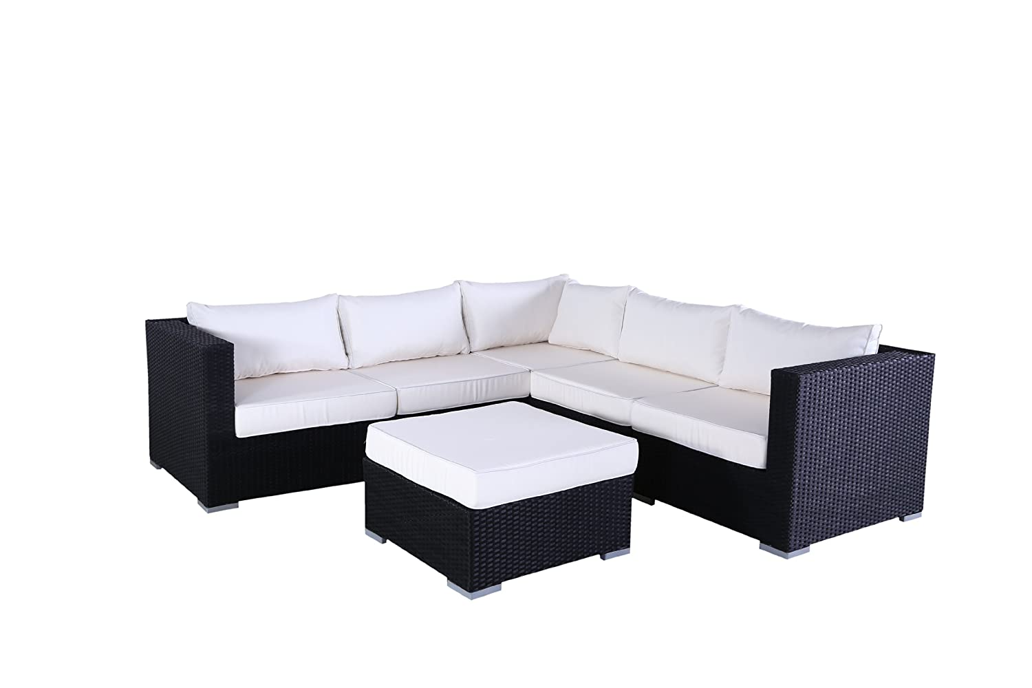 polyrattan lounge ecksofa palermo schwarz g nstig bestellen. Black Bedroom Furniture Sets. Home Design Ideas