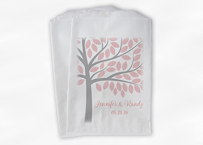 Peachy Amazon Com Tree Wedding Favor Bags For Candy Buffet In Pink Home Interior And Landscaping Palasignezvosmurscom