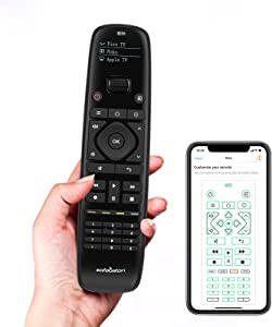 Sofabaton Universal Remote Control for Smart Home Entertainment Devices Over 6000 Brands, Replace up to 15 Bluetooth & IR Devices, Harmony Remote with APP Control, OLED Display, One-Click Button