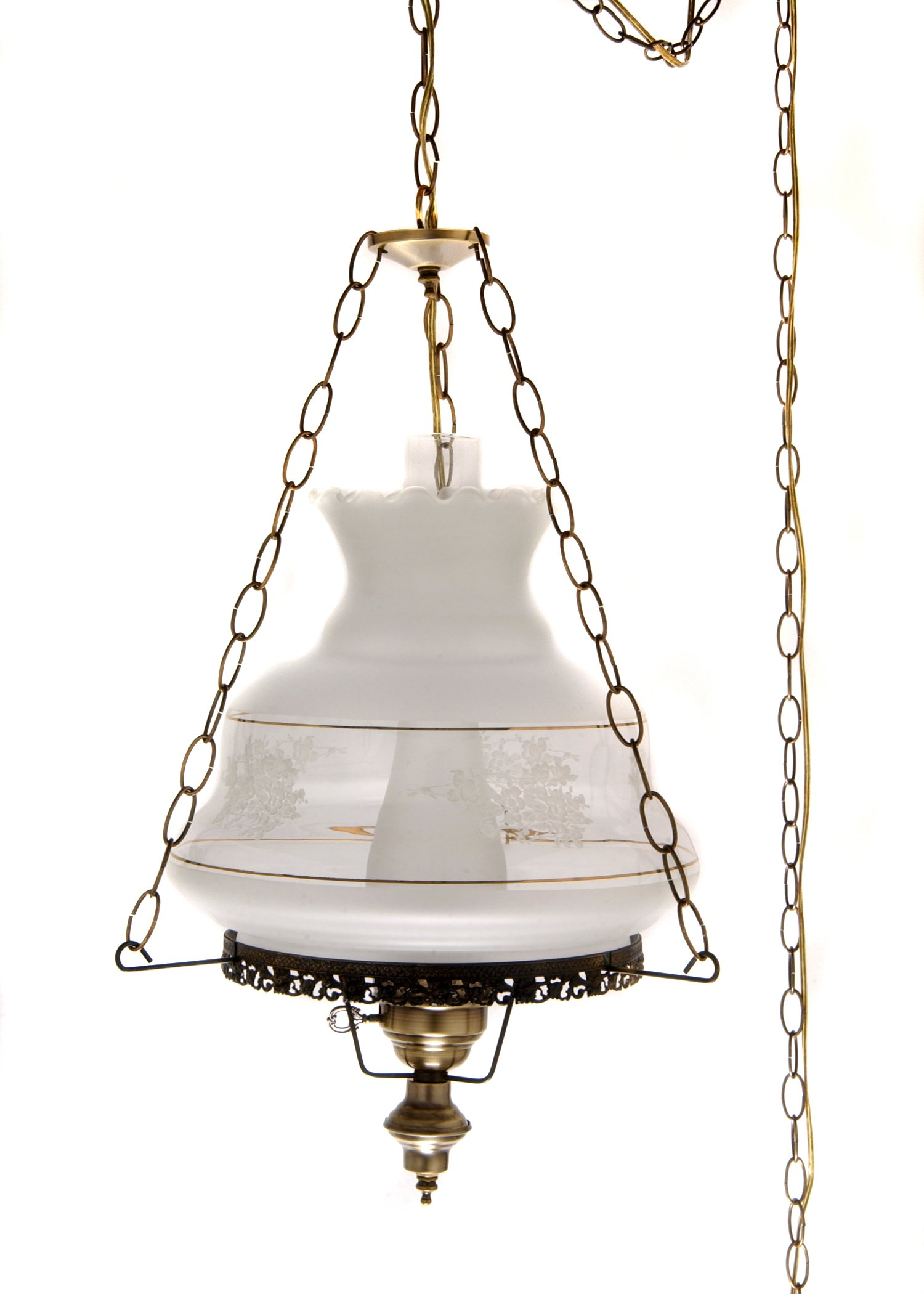 27 in. Victoria's Window Hurricane Pendant Lamp 14 in. Shade