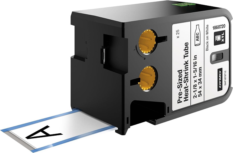 Dymo XTL Cassette d/étiquettes pour Bague thermor/étractable 12 mm x 2,7 m Noir sur Blanc