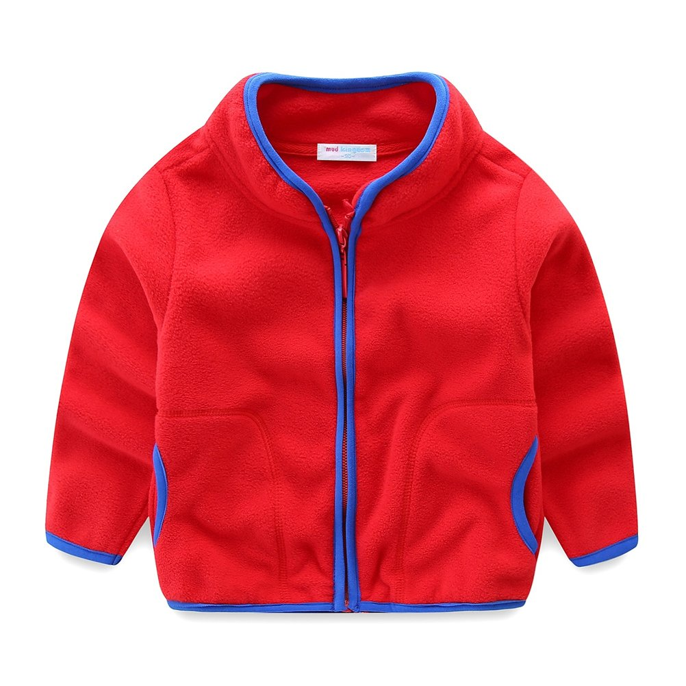 UWESPRING Kids Fleece Jackets with Full-Zip Lightweight Colorblock