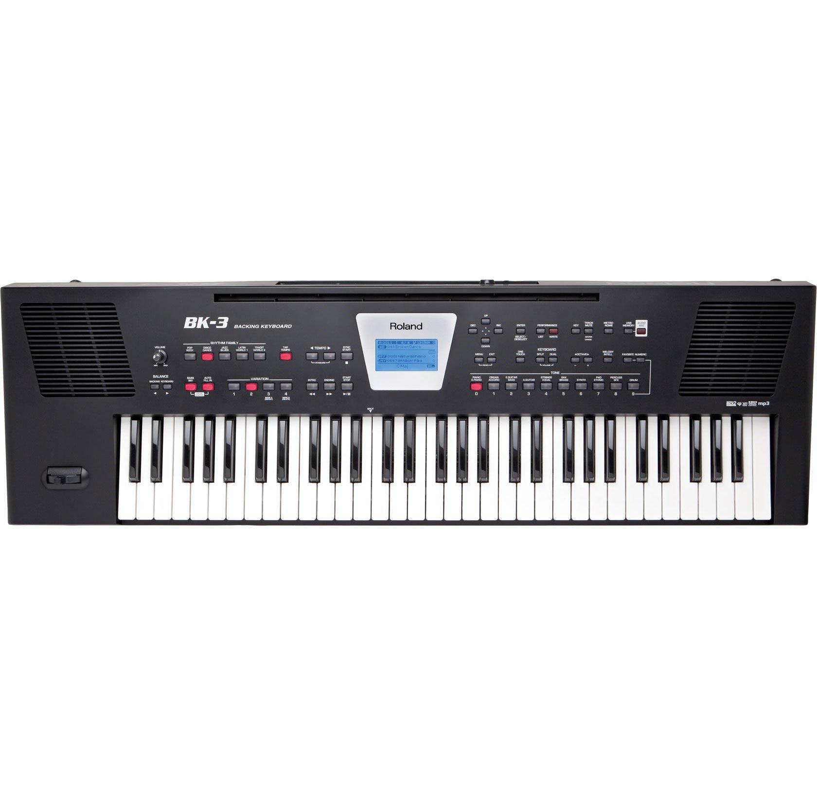 Roland, 61-Key Portable Keyboard, BK3 (BK-3-BK) by Roland