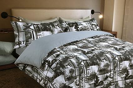 Copripiumino stampato motivo Yes (lingua inglese) Moderno Para cama ...