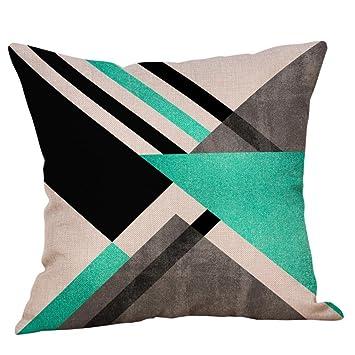 E Fxbar Multicolor Geometric Graphics Throw Pillow Case Glitter Sequin Sofa Waist Cushion Covers Home Decor Fashion Design