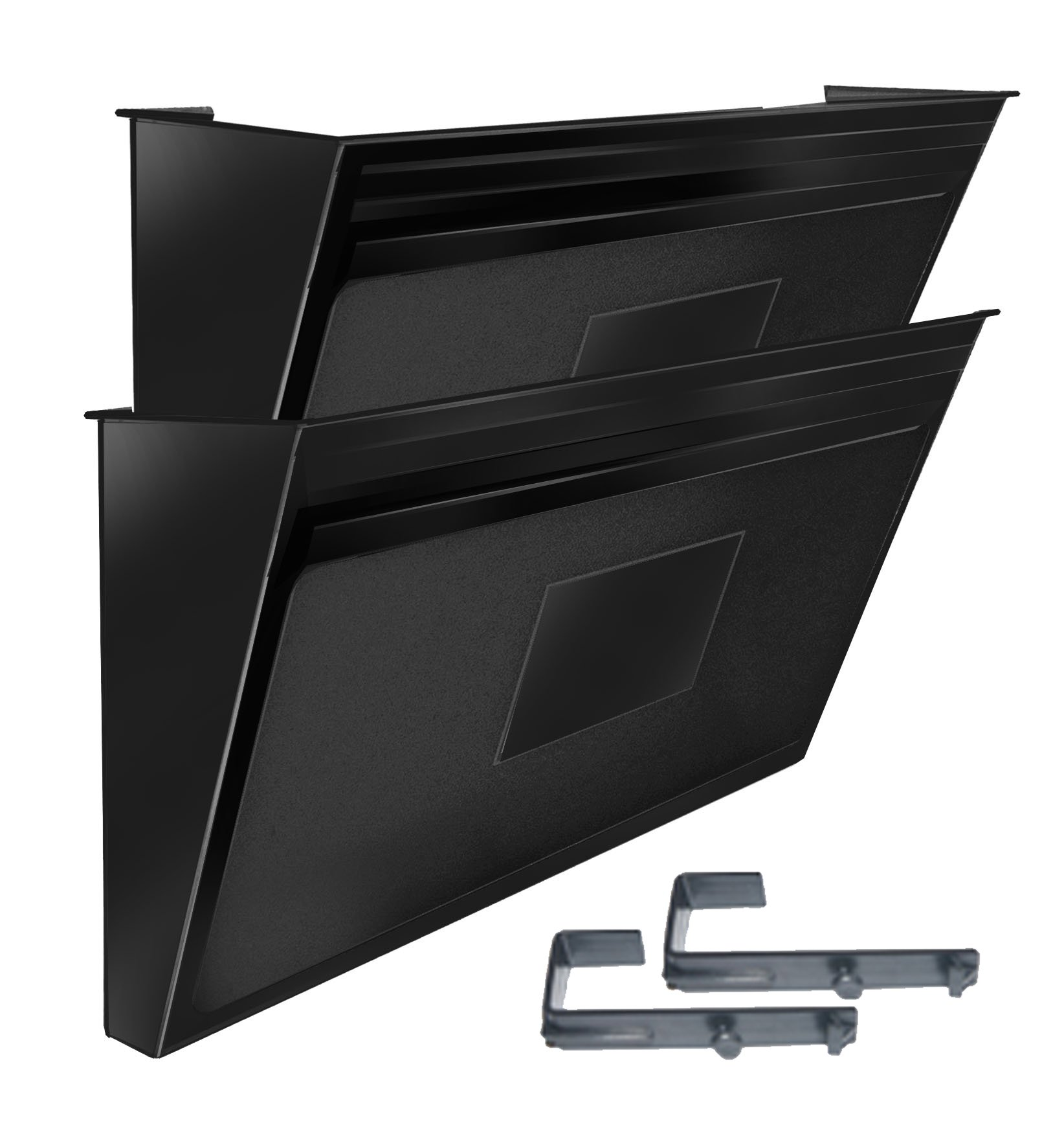 Acrimet Wall-mounted Modular File Holder (2 - Pack) (Black Color)