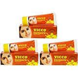 Vicco Turmeric Vanishing Cream (With Sandalwood Oil) Pack of 3 *50gm