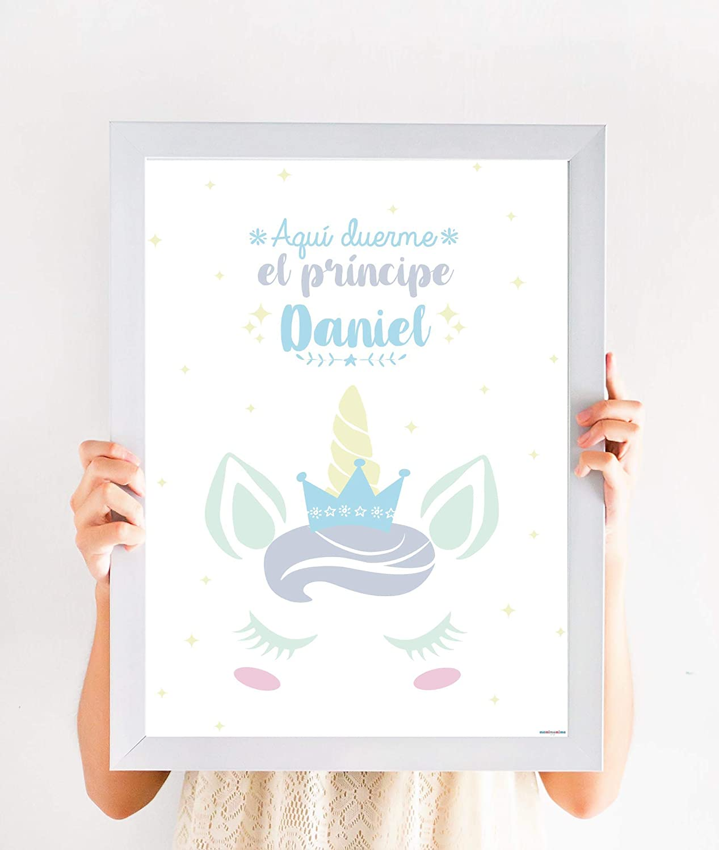 cuadro de unicornio, decoración de unicornio, regalos de unicorni