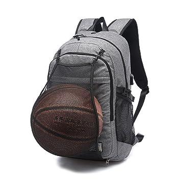 Mochila Moyun 2 en 1 para portátil de 17 pulgadas, con puerto de carga USB y bolsillo de malla oculto, gris: Amazon.es: Deportes y aire libre