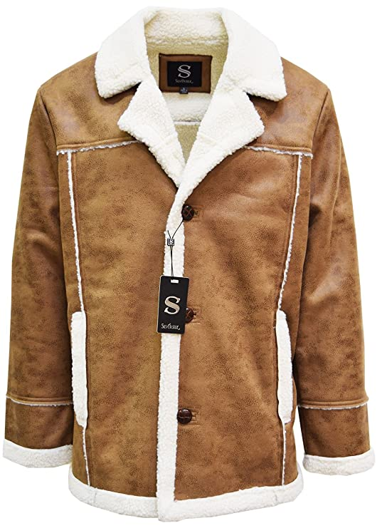 60s 70s Men's Jackets & Sweaters SILVERSILK Mens Sherpa Jacket $59.00 AT vintagedancer.com