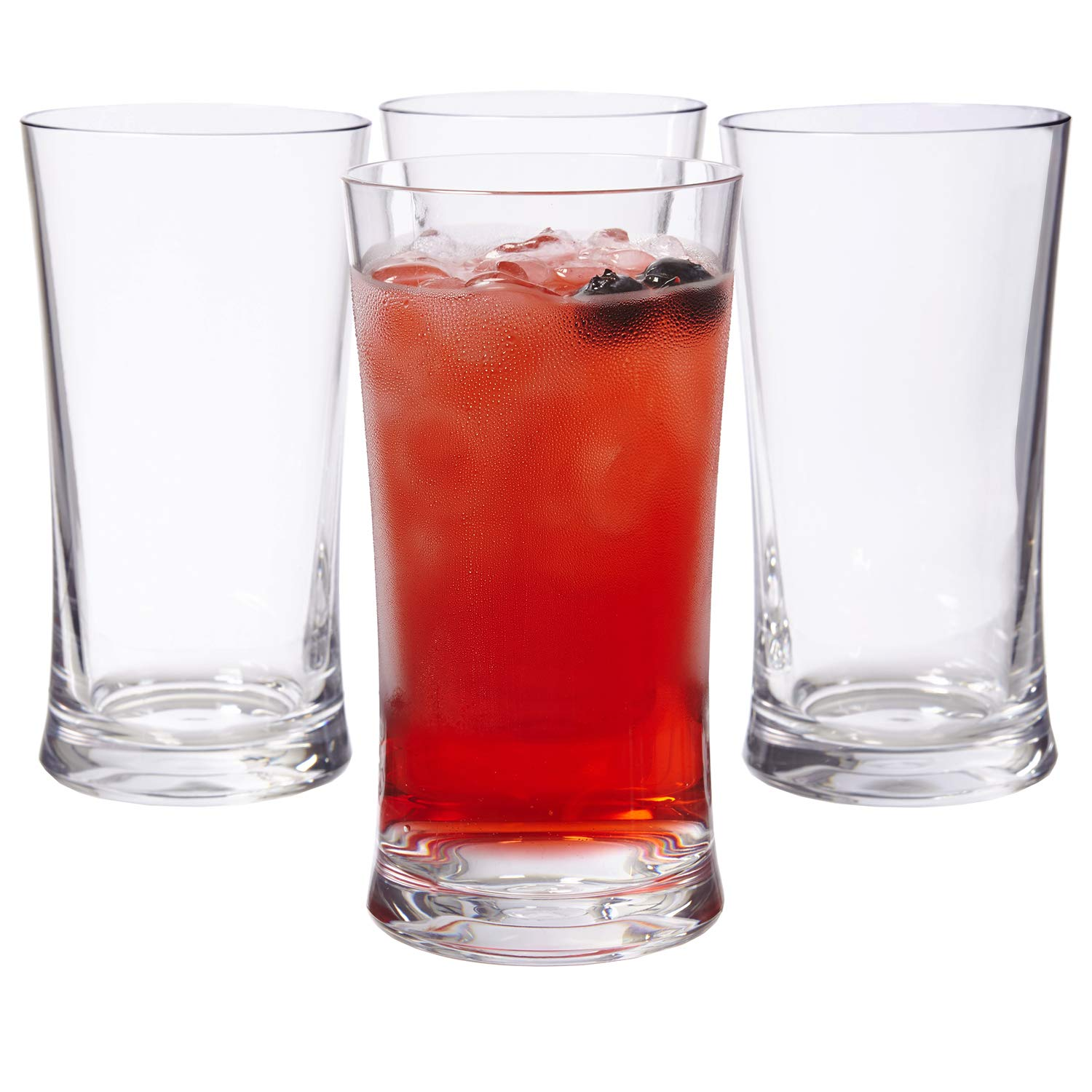 Emme 17-ounce Unbreakable Tritan Water Tumblers | Clear set of 4