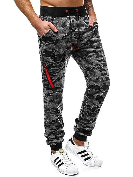 OZONEE Hombre Jogg Pantalones Informales Pantalón chándal Jogger ...