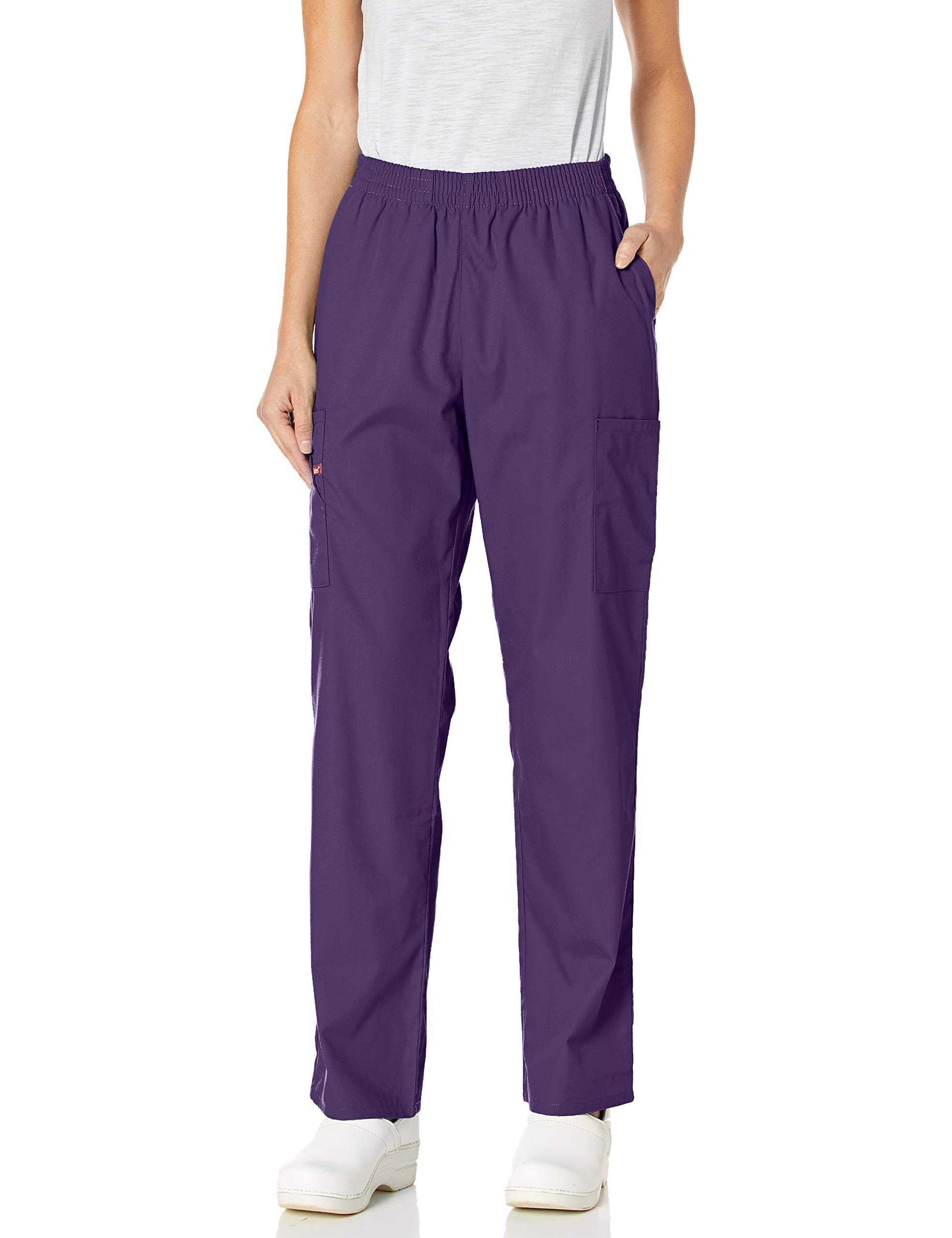 dickies EDS Signature Natural Rise Tapered Leg Pull-On Scrub Pant, 2XL, Grape by dickies