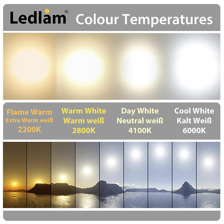 LED Einbaustrahler Panel silber rund /Ø 12cm 6 Watt neutralwei/ß