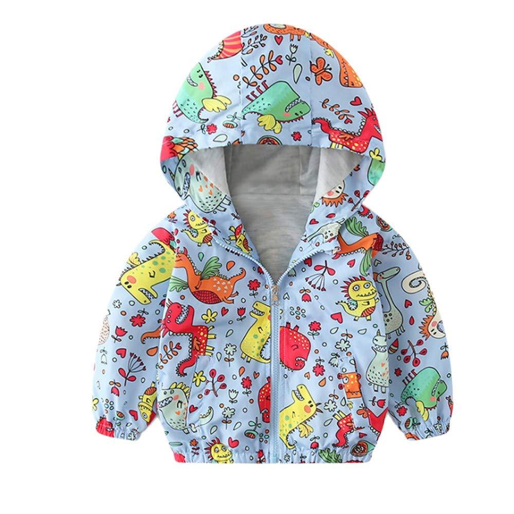 LANSKIRT _Vetement D'enfant Vetement bébé Veste Katon Zipper Manteau Garçons Filles Enfants Vêtements Veste à Capuche en Coton à Manches Courtes Sweat imprimé de Dessin animé