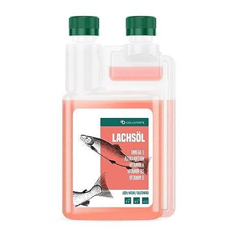 Aceite de salmón Omega-3 de Purmedica para perros, gatos y caballos, producto