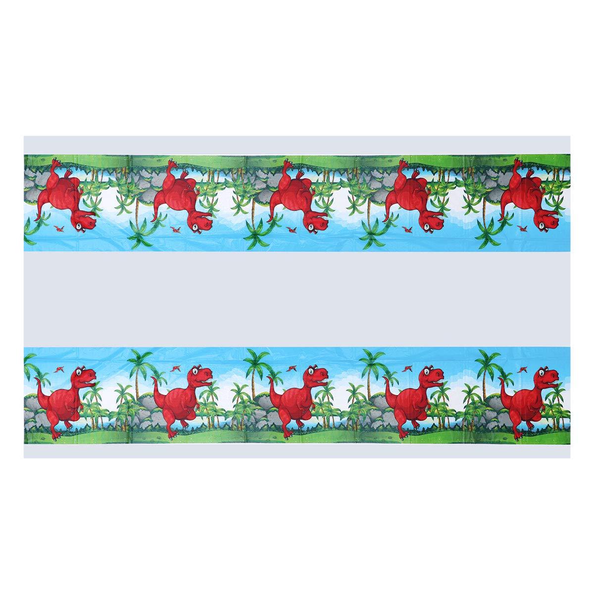 BESTONZON Dinosaurio patrón desechable mantel rectángulo tabla cubierta boda cumpleaños fiesta suministros