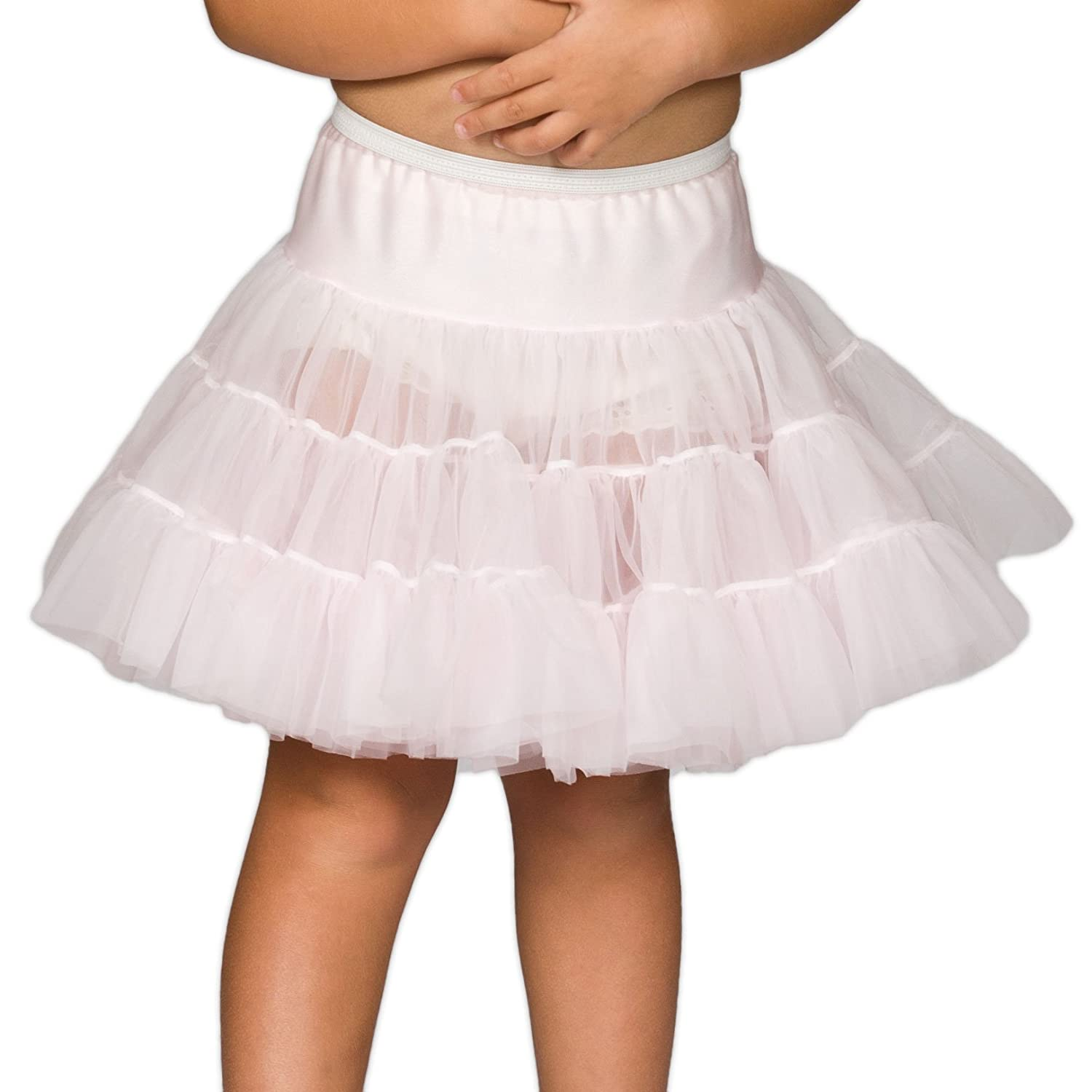 I.C. Collections Little Girls Pink Bouffant Half Slip Petticoat, 3T New ICM 000500-ALL-B