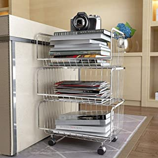 LPZ Estante 304 Cocina de Acero Inoxidable Estante de Verduras Cesta de Frutas y Verduras Aterrizaje Carro de Varias Capas Cesta de Frutas y Verduras LPZV (Tamaño : 42 * 35 * 82CM)