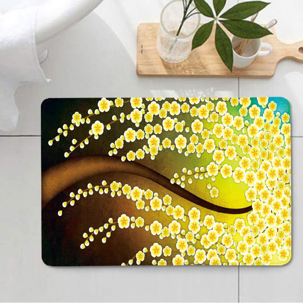 Wj 3D - Alfombrilla de baño, diseño de árbol, 1, 45 * 75cm: Amazon ...