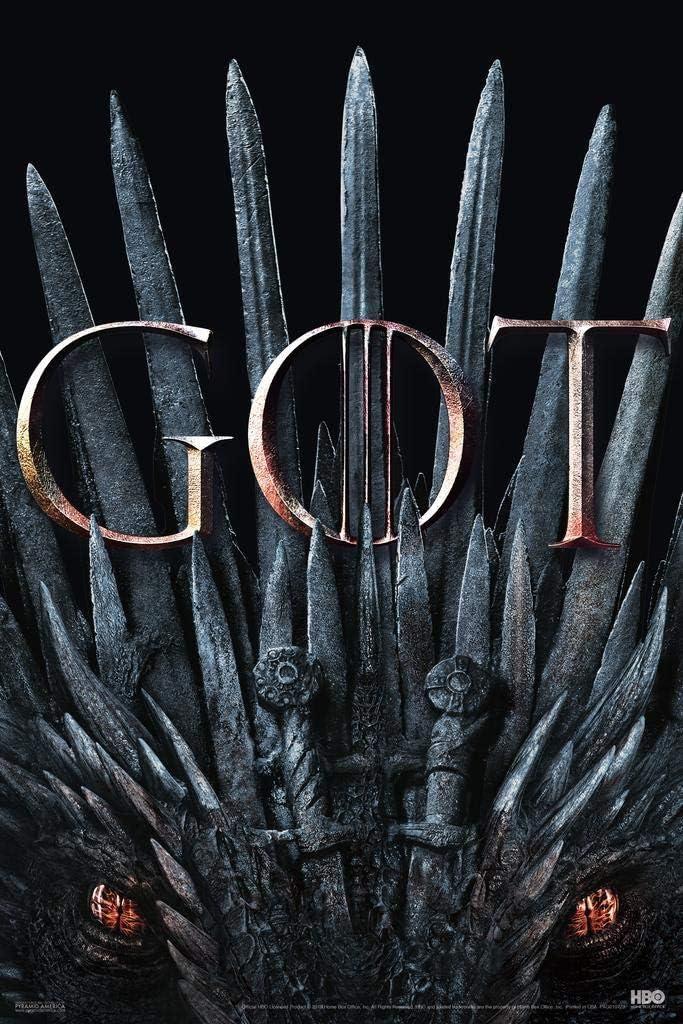 Pyramid America Game of Thrones Season 8 Iron Throne GOT Dragon Eyes Cool Wall Decor Art Print Poster 24x36