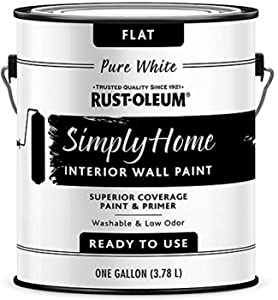 Rust-Oleum Simply Home Interior Wall Paint 332119 Simply Home Flat Interior Wall Paint, Pure White