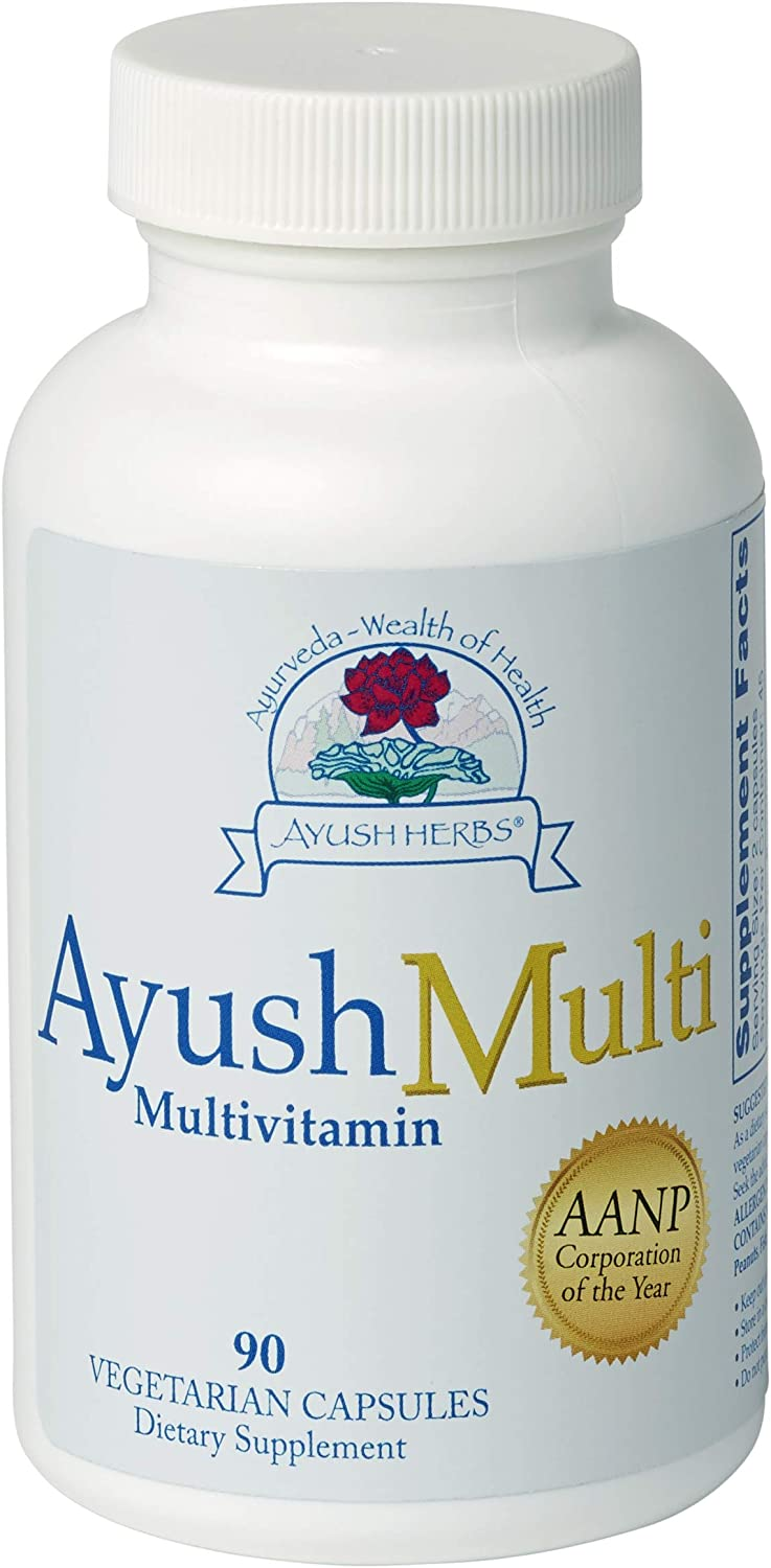 Ayush-Multi, Optimal Nutritional Support Now with MTHF P-5-P, 90 Count by Ayush Herbs