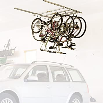 Saris Cycle Glide Ceiling Mount Storage Rack - White