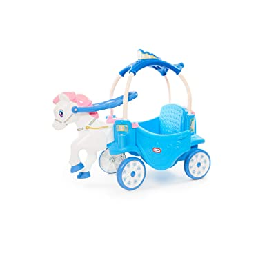 Little Tikes Princess Horse & Carriage - Frosty Blue Ride-On: Toys & Games