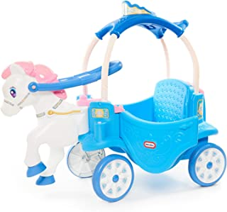 product image for Little Tikes Princess Horse & Carriage - Frosty Blue Ride-On