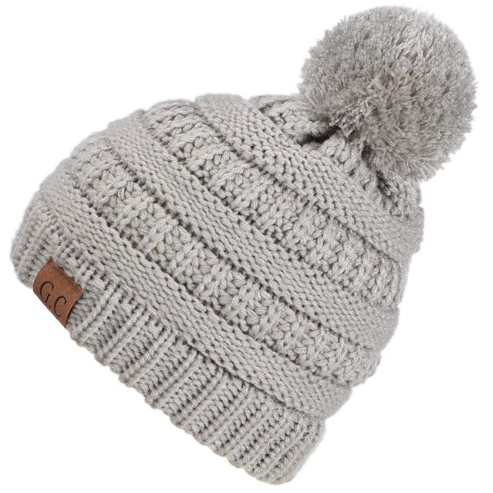 42f6ed81420f JDYW Bonnet Bébé Bobble Hat Hiver Chaud Bonnet en Tricot pour Enfants Bonnet  pour Enfants