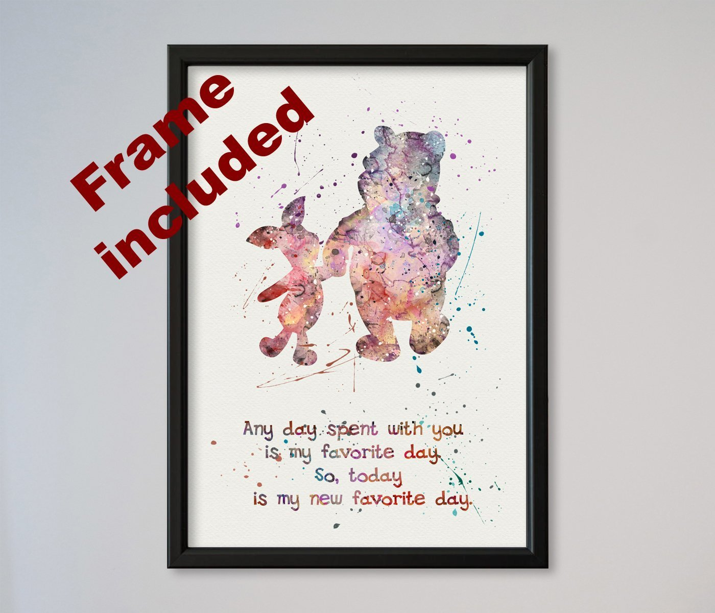 Amazon.com: Winnie-the-Pooh and Piglet Quote FRAMED Poster ...